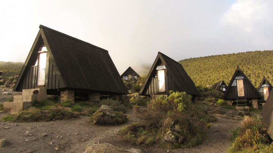 Huts along the routes