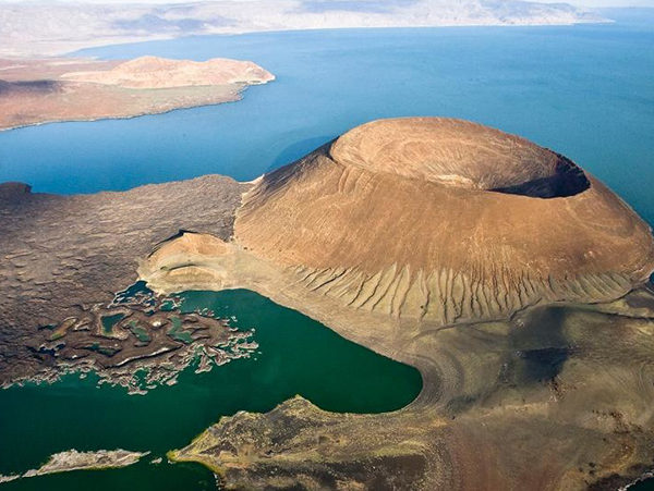 Aerial view of Lake Turkana