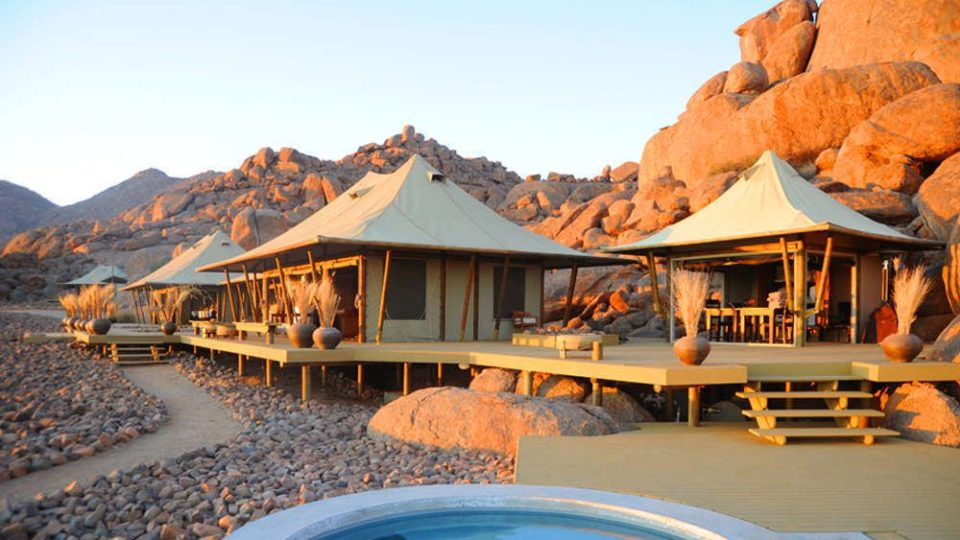 Set against the rocks, Wolwedans Boulders Camp is small and intimate